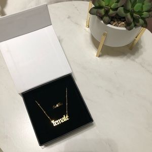 Female necklace & ring